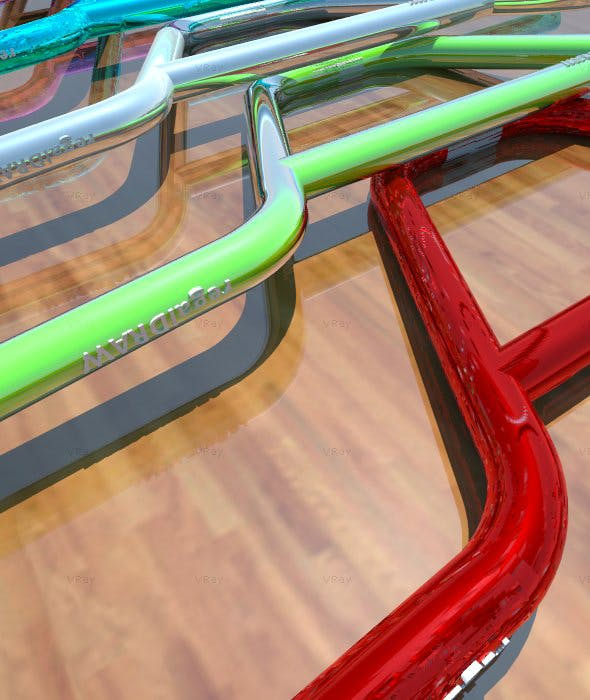 3D BMX Handle Bars Reg 1 - 3DOcean Item for Sale