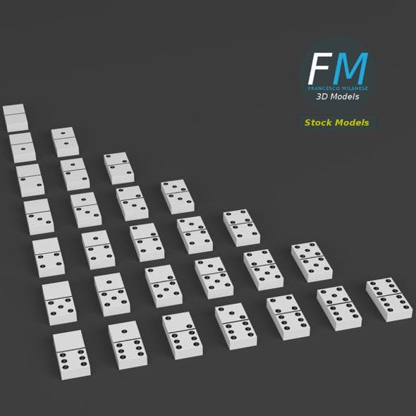 Domino set - 3DOcean Item for Sale