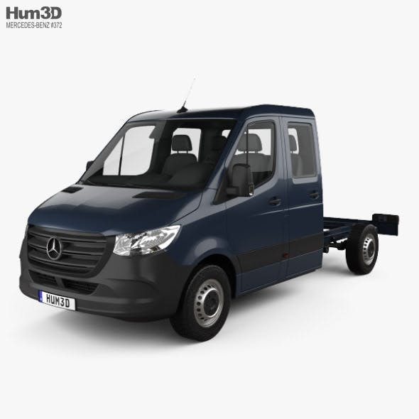 Mercedes-Benz Sprinter (W907) Crew Cab Chassis L2 2019 - 3DOcean Item for Sale