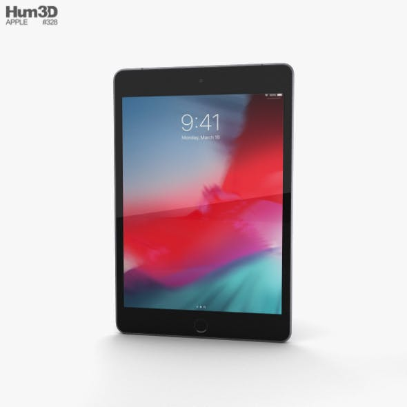 Apple iPad mini (2019) Cellular Space Gray - 3DOcean Item for Sale