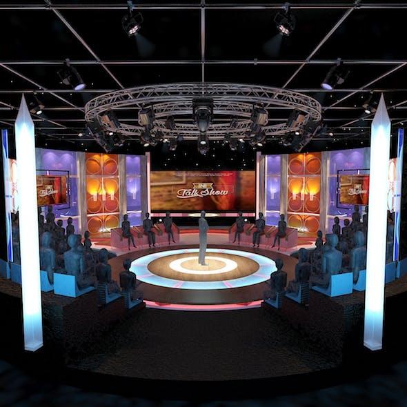 Virtual TV Studio Entertainment Set 3 - 3DOcean Item for Sale