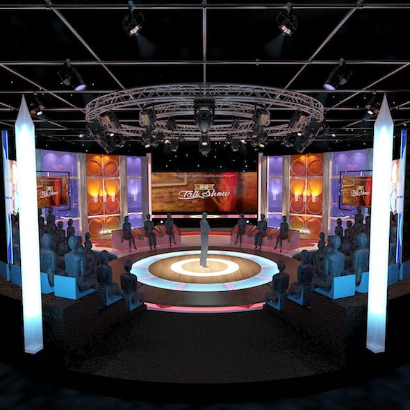 Virtual TV Studio Entertainment Set 3