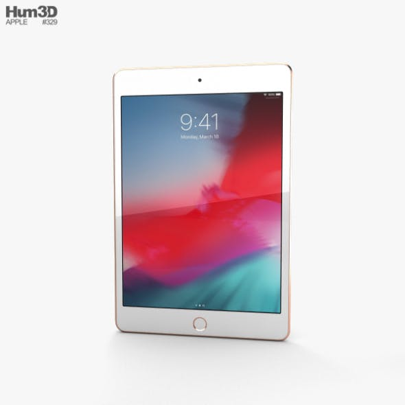 Apple iPad mini (2019) Gold - 3DOcean Item for Sale