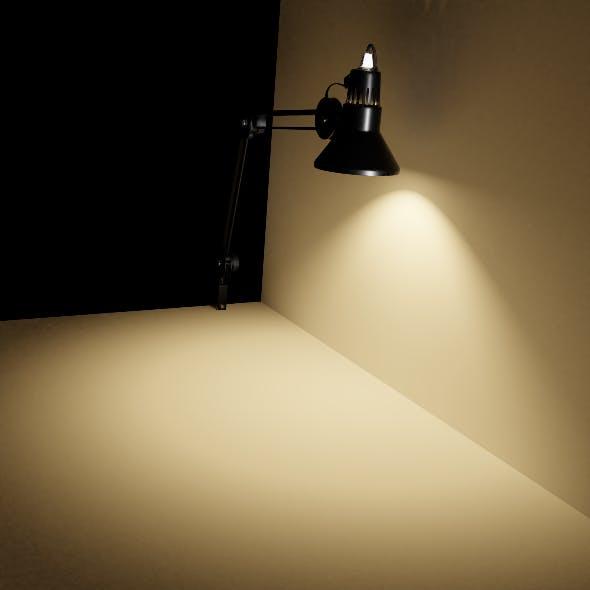 Desk lamp of metal - 3DOcean Item for Sale