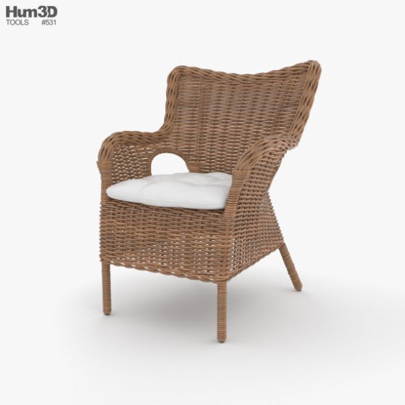 Rattan Chair - 3DOcean Item for Sale