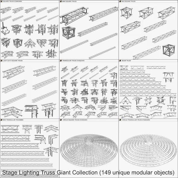 Stage Lighting Truss Giant Collection - 149 unique modular objects - 3DOcean Item for Sale