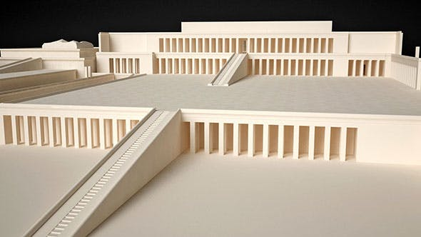 Egyptian Queen Hatshepsut Temple - 3DOcean Item for Sale