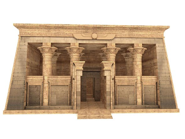 Egyptian Temple of Kalabsha - 3DOcean Item for Sale