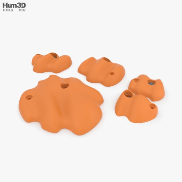 Climbing Holds - 3DOcean Item for Sale