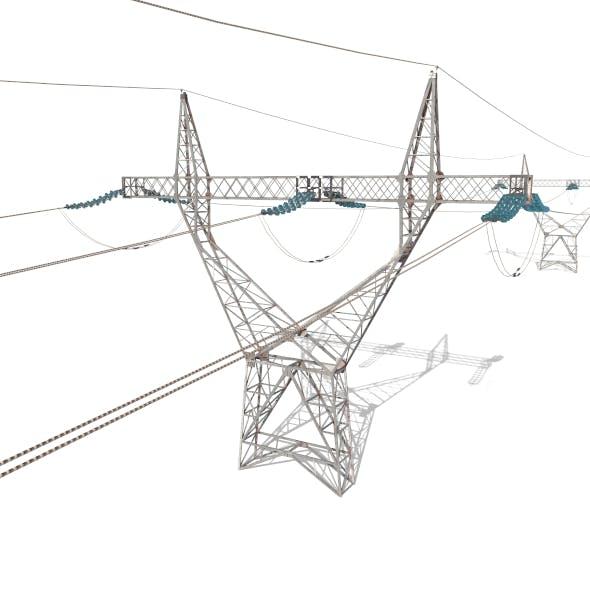 Electricity Pole 21 - 3DOcean Item for Sale