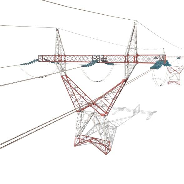 Electricity Pole 22 - 3DOcean Item for Sale