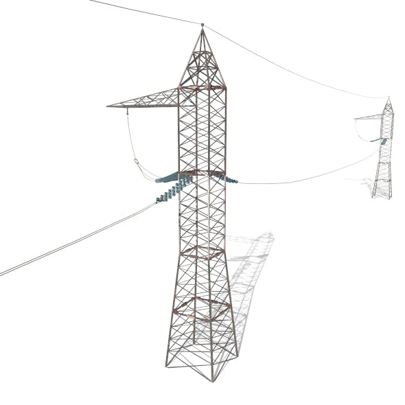 Electricity Pole 17 - 3DOcean Item for Sale