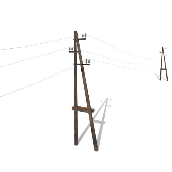 Electricity Pole 23 - 3DOcean Item for Sale
