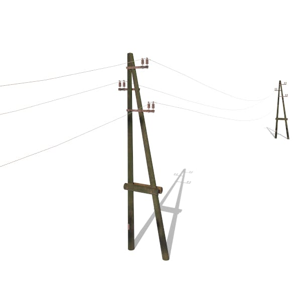 Electricity Pole 23 Weathered - 3DOcean Item for Sale