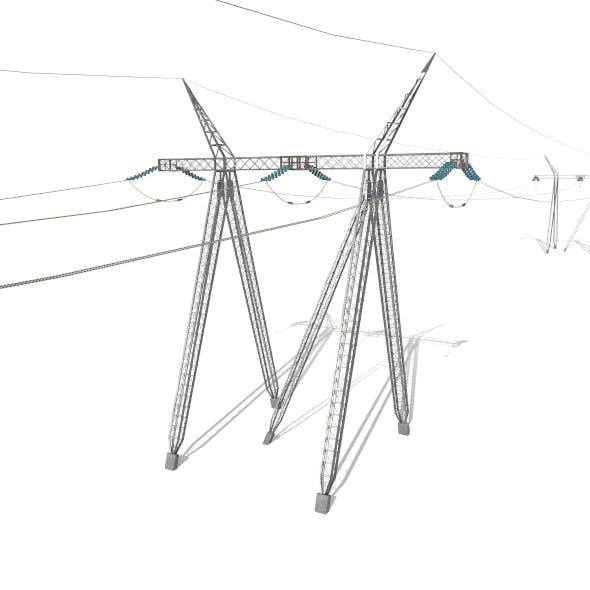 Electricity Pole 24 - 3DOcean Item for Sale
