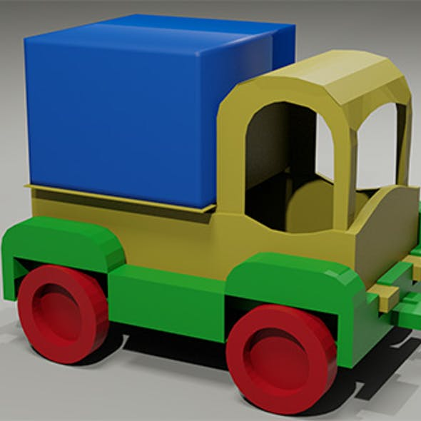 Toy low-poly Truck
