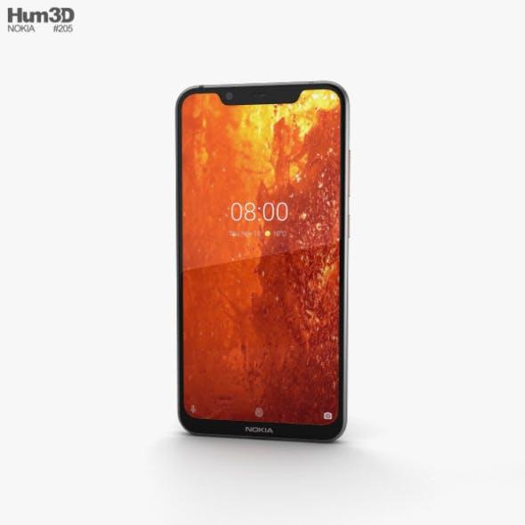 Nokia 8.1 Steel Copper - 3DOcean Item for Sale