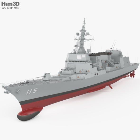 Akizuki-class destroyer - 3DOcean Item for Sale