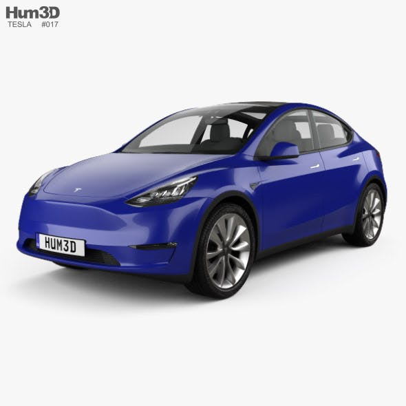Tesla Model Y 2021 - 3DOcean Item for Sale