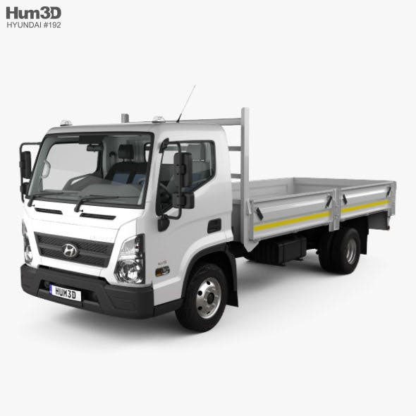 Hyundai Mighty EX8 Flatbed Truck with HQ interior and engine 2018 - 3DOcean Item for Sale
