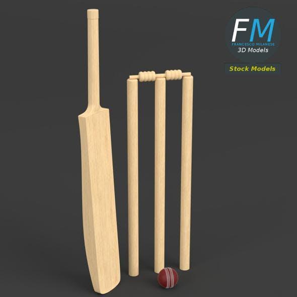 Cricket set - 3DOcean Item for Sale