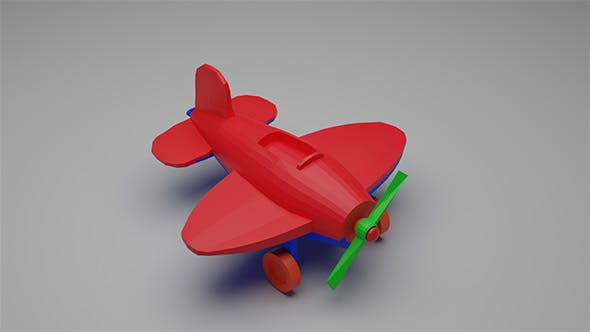 Toy low-poly Plane Airplane - 3DOcean Item for Sale