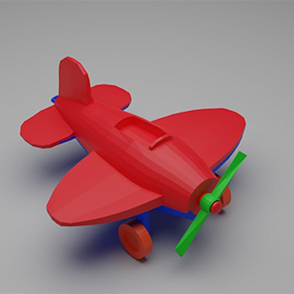 Toy low-poly Plane Airplane