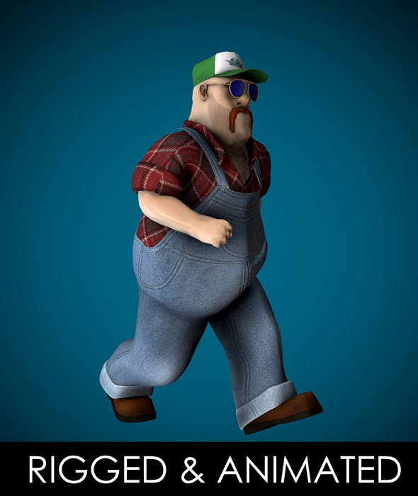 Mr Globetrotter Male Character PRO - 3DOcean Item for Sale