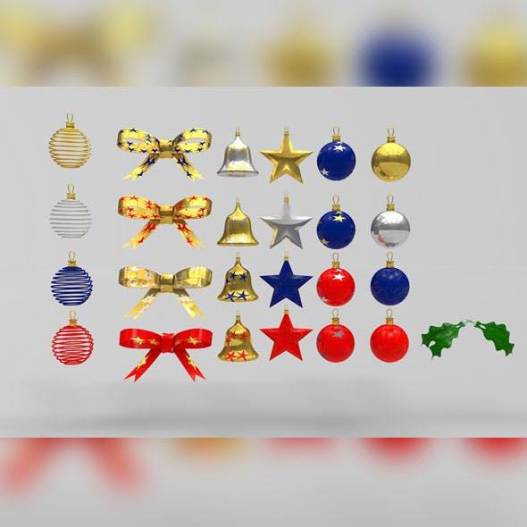 Christmas Ornaments Models Pack - 3DOcean Item for Sale