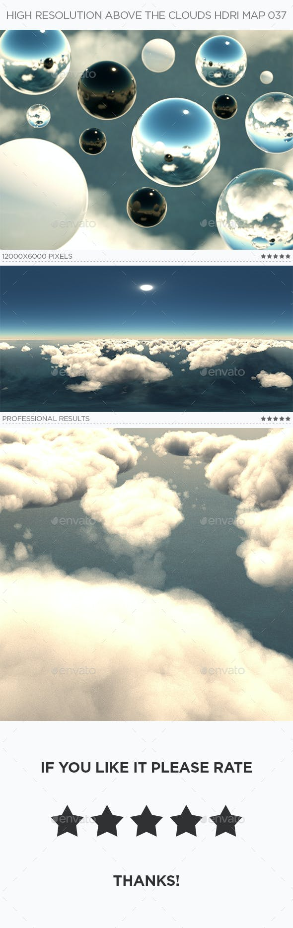 High Resolution Above The Clouds HDRi Map 037 - 3DOcean Item for Sale