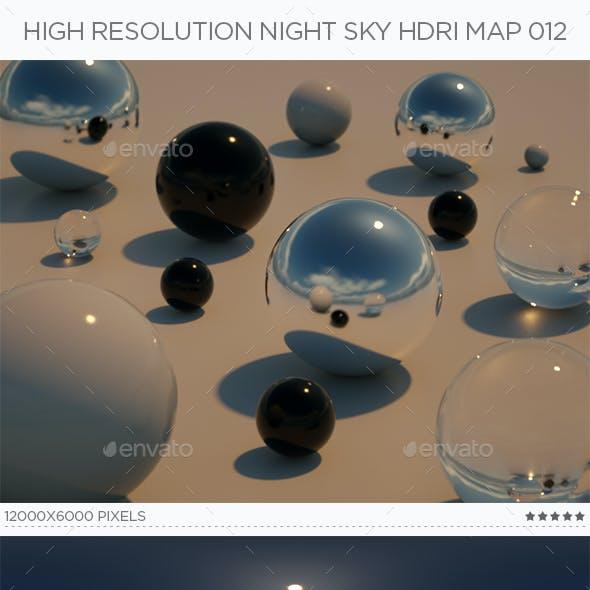 High Resolution Night Sky HDRi Map 012
