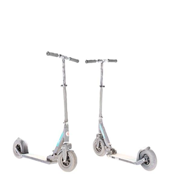 Gray kick scooter 26