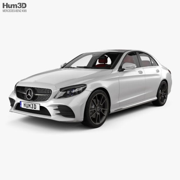 Mercedes-Benz C-Class AMG-line sedan with HQ interior 2018 - 3DOcean Item for Sale