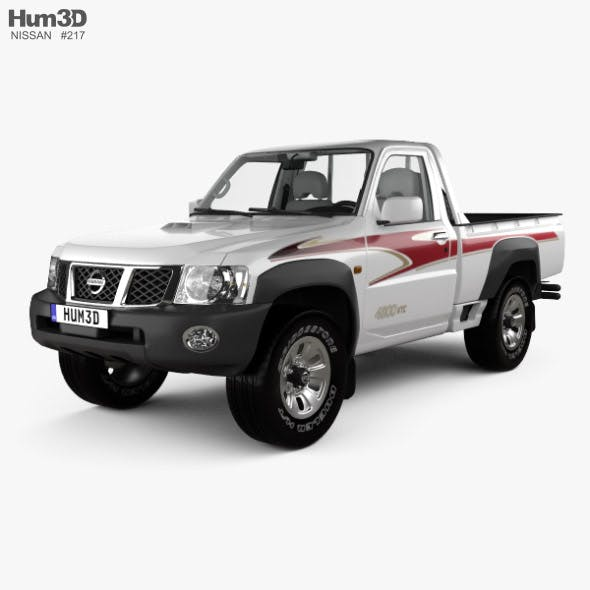 Nissan Patrol pickup with HQ interior 2016 - 3DOcean Item for Sale