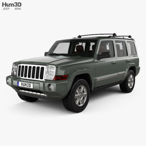 Jeep Commander Limited with HQ interior 2006 - 3DOcean Item for Sale