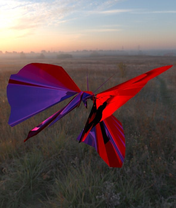 3D Butterfly - 3DOcean Item for Sale