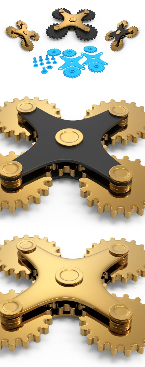 Spinner Gears - 3DOcean Item for Sale