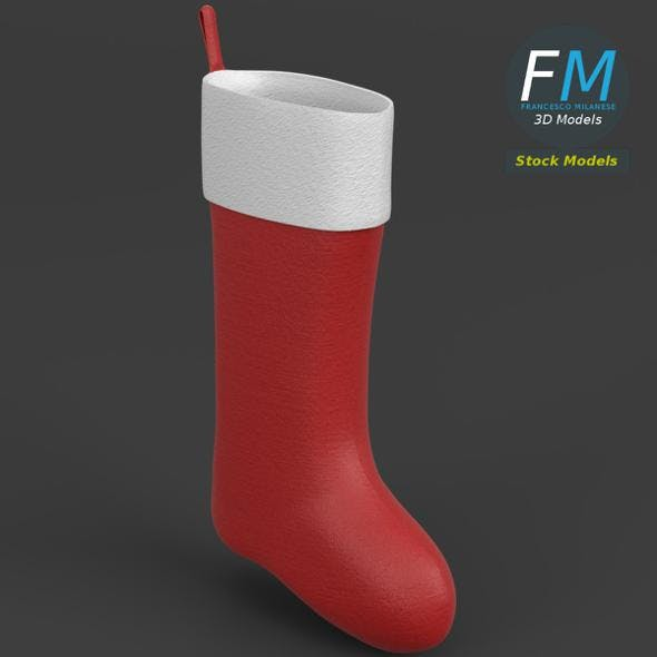 Christmas stocking - 3DOcean Item for Sale