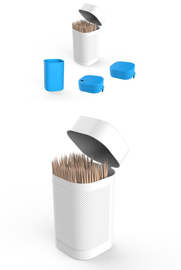 Toothpicks Container - 3DOcean Item for Sale
