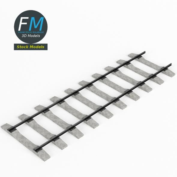 Railway track - 3DOcean Item for Sale