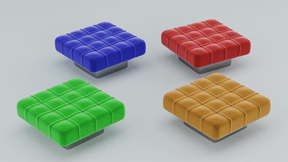 Pouf 3D Puff - 3DOcean Item for Sale