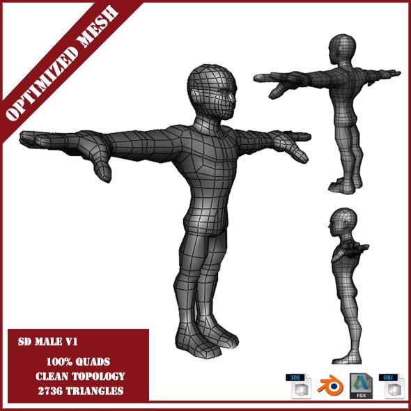 SD Male Base Mesh V1 - 3DOcean Item for Sale