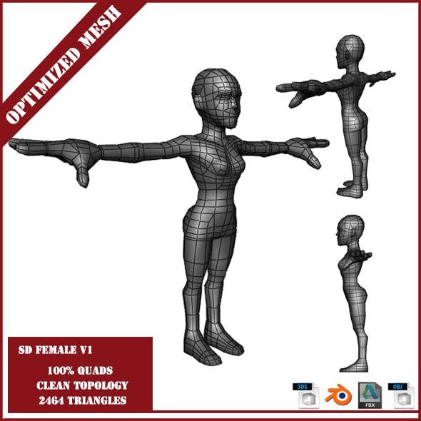 SD Female Base Mesh V1 - 3DOcean Item for Sale