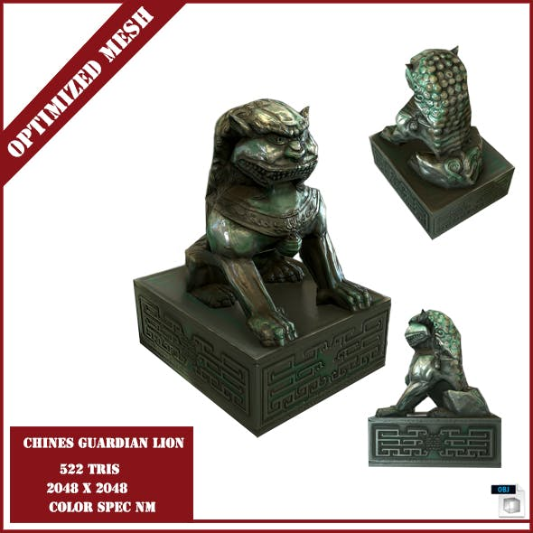 Chinese Guardian Lion - 3DOcean Item for Sale