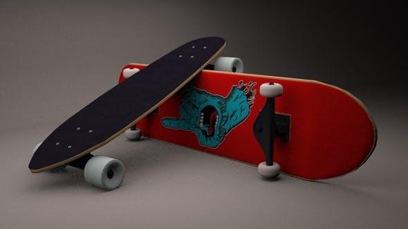 Longboard & Skateboard - 3DOcean Item for Sale