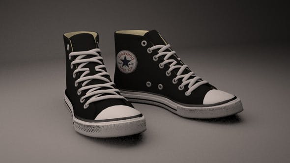 Converse All Star Black High - 3DOcean Item for Sale