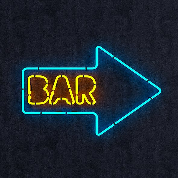 Neon Bar Sign - 3DOcean Item for Sale