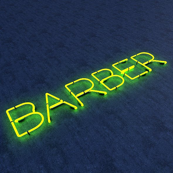 Barber Neon Sign - 3DOcean Item for Sale