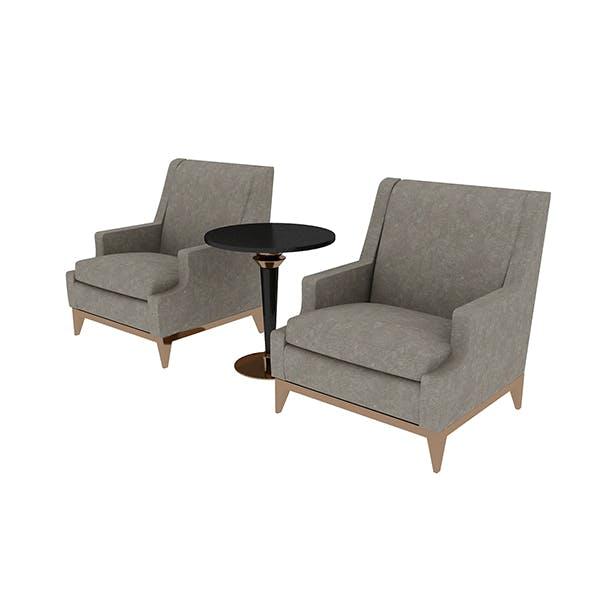 Armchair & Table - 3DOcean Item for Sale