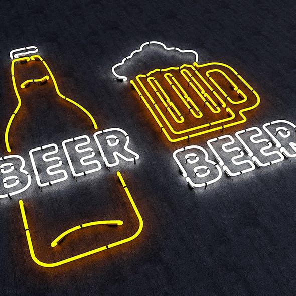 Neon Beer Sign - 3DOcean Item for Sale